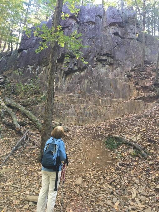 Talcott Mt trail traprock